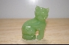 "+MBA #4-087  ""1986 Franklin Mint  Ching Dynasty Jade Cat Figurine"