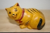 "+MBA #4-062  ""1986 Hand Carved & Painted Franklin Mint Chalk-Ware Cat"