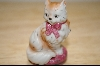 "+MBA #4-093  ""1986 Franklin Mint Staffordshire Cat"