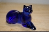 "+MBA #4-078  ""1986 Blue Glass Franklin Mint Cat"