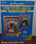 "MBA #3838-0181   ""1994 Gallery Glass ""Country Signs"" Glass Painting Book #8991"""