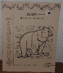 "MBA #3939-112   ""1984 Bears Iron On Transfers By Celia Totus Enterprises"""