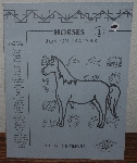 "MBA #3939-106  ""1984 Horses (1) Iron Transfers By Celia Totus Enterprises"""