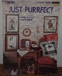 "MBA #3939-0071  ""1986 Just Purrfect Cross Stitch Cat Patterns By Mary Ellen"""