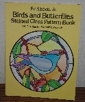 "MBA #3939-213   ""1984 Ed Sibbett Jr Birds & Butterflies Stained Glass Pattern Book"""