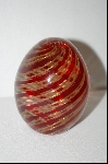 Hand Made Italian Murano Glass Egg Paper Weight