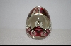 +MBA #9-045  Hand Made Itailan Murano Glass Egg Shaped Paper Weight