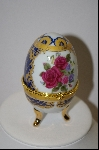 "**MBA #9-228   ""Ceramic Egg Trinket Box With Candle Inside"