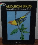 "MBA #4040-187  ""1996 Audubon Birds Stained Glass Coloring Book"" By Carol Kres"