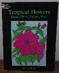 "MBA #4040-193  ""1997 Tropical Flowers Stained Glass Coloring Book"" By Carolyn Relei"