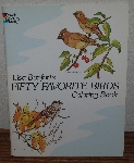 "MBA #4040-206  ""1982 Fifty Favorite Birds Coloring Book"" By Lisa Bonforts"