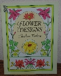 "MBA #4040-208  ""1994 Flower Designs By Charlene Tarbox"" Paper Back"