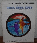"MBA #4040-0018   ""1987 Birds, Birds, Birds Set 4 Full Size Stained Glass Window Patterns"" By Lucinda Doran & Brian McMillan"