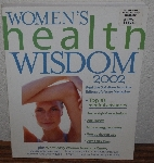 "MBA #4040-0061  ""2002 Women's Health Wisdom 2002"" Paper Back"