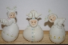 Set Of 3 Enesco 1985 Babies & Eggs