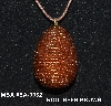 "MBA #EA-0032  ""Hand Glass Beaded Rootbeer Brown Egg Pendant"""