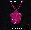 "MBA #EA-0069  ""Bright Pink Glass Seed Bead Acorn pendant"""