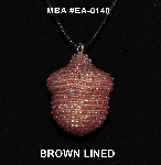 "MBA #EA-140  ""Brown Filled Glass Seed Bead Acorn Pendant"""