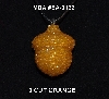 "MBA #EA-132  ""3 Cut Orange Glass Seed Bead Acorn Pendant"""