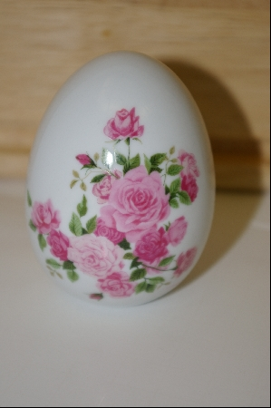 "+MBA #10-179  1988 Avon ""Summer Roses"" Ceramic Collectors Egg"