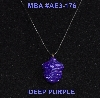 "MBA #AE3-176  ""Purple Glass Seed Bead Acorn Pendant"""