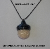 "MBA #AC1-247  ""Gun Metal Grey & Clear Luster Glass Seed Bead Acorn Pendant"