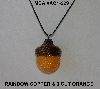 "MBA #AC1-229  ""Rainbow Copper & 3 Cut Light Orange Glass Seed Bead Acron Pendant"""