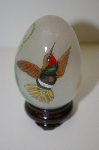 +MBA #10-273   1998 Asian Reverse Hand Painted Hummingbird Egg