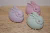 Set Of 3 D56 Bunny Porceline Eggs