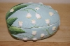 Blue Fine Bone China Egg Dish
