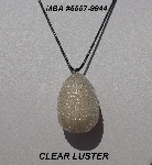 "MBA #5557-0044  ""Clear Luster Glass Seed Bead Egg Pendant"""
