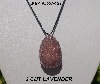 "MBA #5557-123  ""Lavender Glass Seed Bead Egg Pendant"""