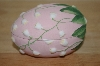 + MBA #10-131  1980's Pink Fine Bone China Hand Painted Egg Dish