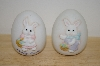 Set Of 2 1989 Bone China Boy & Girl Easter Eggs