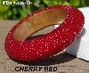 "MBA #5556-587  ""Cherry Red Glass Seed Bead Bangle Bracelet"""