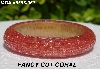 "MBA #5556-367  ""Fancy Cut Coral Glass Seed Bead Bangle Bracelet"""