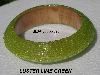 "MBA #5556-525  ""Luster Lime Glass Seed Bead Bangle Bracelet"""
