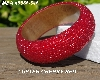 "MBA #5556-645  ""Luster Cherry Red Glass Seed Bead Bangle Bracelet"""