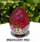 "MBA #5556-296  ""Iridescent Red Stained Glass Mosaic Egg"""