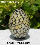 "MBA #5556-300  ""Light Yellow Stained Glass Mosaic Egg"""