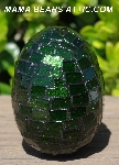 "MBA #5556-469  ""Large Green Glitter Glass Mosaic Egg"""