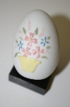 **Fine Bone China Embosed & Hand Painted Floral Egg