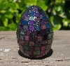 "MBA #5556-490  ""Iridescent Purple Stained Glass Mosaic Egg"""
