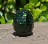 "MBA #5556-494  ""Small Green Glitter Glass Mosaic Egg"""