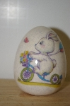 Porceline Cracked Finish Bunny On A Bike Egg