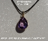 "MBA #5600-323  ""Fancy Pear Cut Amethyst Pendant"""