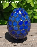 "MBA #5600-0002   ""Blue Stained Glass Mosaic Egg"""