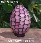 "MBA #5600-148  ""Rose Quartz Pink Stained Glass Mosaic Egg"""