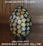 "MBA #5601-0006  ""Iredescent Golden Yellow Stained Glass Mosaic Egg"""