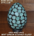 "MBA #5601-0015  ""Mint Green Stained Glass Mosaic Egg"""